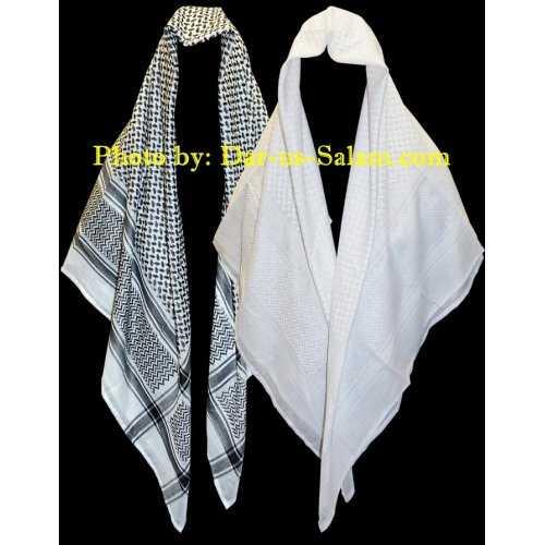 Shemagh / Ghutra / Scarf for Men (Black/White)