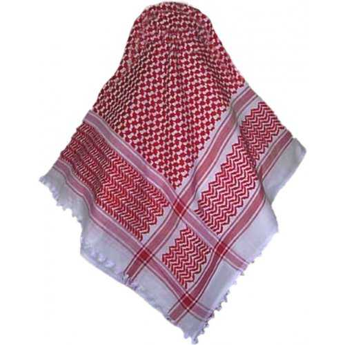 Shemagh / Ghutra / Scarf for Men (Red/White)