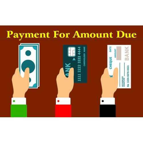 Payment for Amount Due