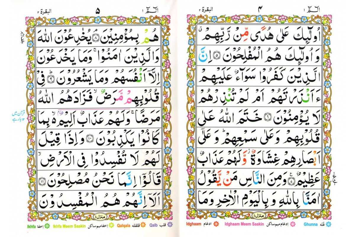 30 Separate Parts with Color Coded Tajweed Rules (9-Line Sipara Set 247)