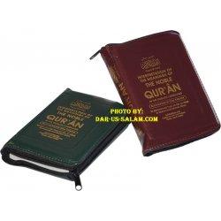 Noble Qur'an Arabic-English (Pocketsize Zipper Case)