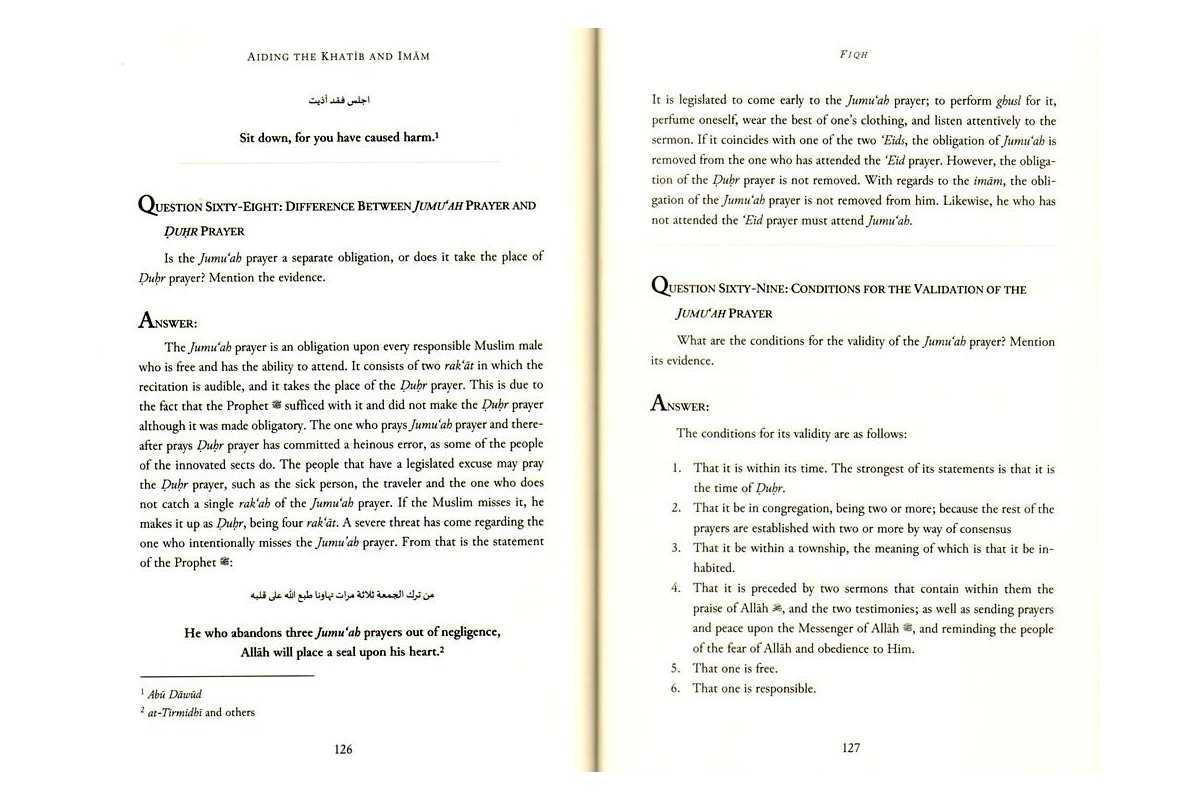 Aiding The Khatib and Imam