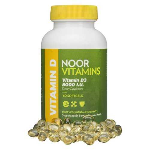 Vitamin D3 5000 IU (60 Softgels, Halal)