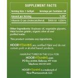 Supplement Facts Vitamin D3