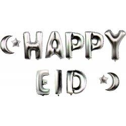 Happy Eid Balloons (Silver)