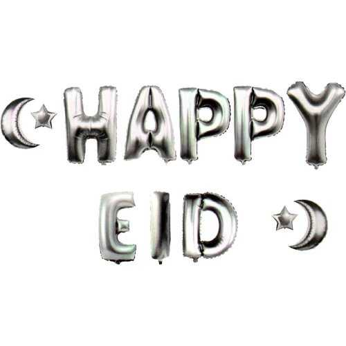 Happy Eid Balloons (Silver)